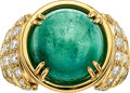 Estate Jewelry:Rings, Emerald, Diamond, Gold Ring, David Webb. ...
