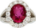 Estate Jewelry:Rings, Burma Ruby, Diamond, Platinum Ring . ...