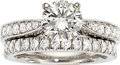 Estate Jewelry:Rings, Diamond, Platinum Ring Set  One ring features ...