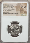 Ancients:Greek, Ancients: PHOENICIA. Tyre. Ca. 126/5 BC-AD 67/8. AR shekel (13.88gm). NGC Choice VF....