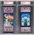 Football Collectibles:Tickets, 1988 and 1992 Super Bowl XXII and XXVI PSA Mint 9 Full Tickets (Redskins Victories). ...