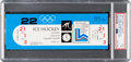 """Miscellaneous Collectibles:General, 1980 Lake Placid Winter Olympic Games """"Miracle On Ice"""" Full Ticket, PSA/DNA NM 7...."""