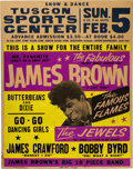 Music Memorabilia:Posters, James Brown Tuscon Sports Center Concert Poster (1967) Extremely Rare....