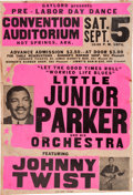 Music Memorabilia:Posters, Little Junior Parker Convention Auditorium Concert Poster (Gaylord, 1970). Extremely Rare....