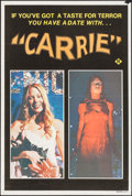 "Movie Posters:Horror, Carrie (United Artists, 1976). Australian Poster (20"""" X 29.75"").Horror.. ..."