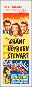 "Movie Posters:Comedy, The Philadelphia Story (MGM, 1940). Australian Daybill (14.75"" X40""). Comedy.. ..."