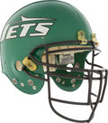 Football Collectibles:Helmets, Circa 1989 Marvin Washington Game Worn New York Jets Helmet....
