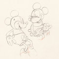 Animation Art:Production Drawing, Puppy Love Mickey Mouse and Minnie Mouse Animation Drawing(Walt Disney, 1933). ...