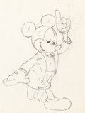 Animation Art:Production Drawing, Mickey's Amateurs Mickey Mouse Animation Drawing (WaltDisney, 1937). ...