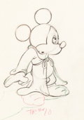 Animation Art:Production Drawing, Fantasia Mickey Mouse as the Sorcerer's Apprentice AnimationDrawing (Walt Disney, 1940). ...