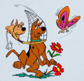 Animation Art:Color Model, Scooby-Doo and Scrappy-Doo Publicity/Color Model Cel (Hanna-Barbera, c. 1970s)....