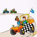Animation Art:Presentation Cel, Scooby's All Star Laff-A-Lympics Coloring Book Cover Cel(Hanna-Barbera, 1977)....