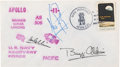 Explorers:Space Exploration, Apollo 11 Crew-Signed Splashdown Cover Directly from the Family Collection of Astronaut Richard Gordon. ...