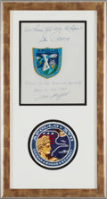 Explorers:Space Exploration, Apollo 10 Flown Beta Mission Insignia Signed and Certified byMission Commander Tom Stafford, also Signed by Mission Lunar Mod...