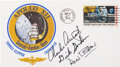 "Explorers:Space Exploration, Apollo 12 Crew-Signed ""Type One"" Insurance Cover Directly from theFamily Collection of Mission Command Module Pilot Richard G..."