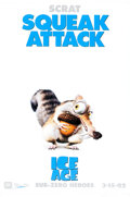 "Memorabilia:Poster, Ice Age ""Scrat"" Lobby Banner Movie Poster (20th Century Fox,2002)...."