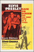 "Movie Posters:Elvis Presley, King Creole (Paramount, R-1959). One Sheet (27"" X 41""). ElvisPresley.. ..."