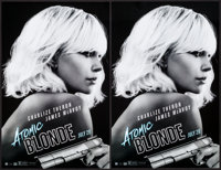 """Atomic Blonde (Focus Features, 2017). Identical Mini Posters (4) (11"""" X 17""""). Action. ... (Total: 4 Items)"""