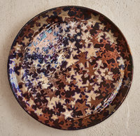 Clément Massier (French, 1835-1917) Starry Sky Charger, 1890 Lustre glazed stoneware 16-1/2 inche