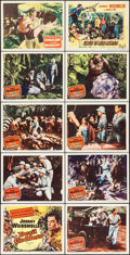 "Movie Posters:Adventure, Devil Goddess & Other Lot (Columbia, 1955). Lobby Card Set of 8& Lobby Cards (2) (11"" X 14""). Adventure.. ... (Total: 10Items)"