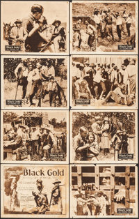 "Black Gold (Norman, 1928). Lobby Card Set of 8 (11"" X 14""). Black Films. ... (Total: 8 Items)"