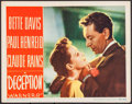 """Movie Posters:Crime, Deception (Warner Brothers, 1946). Lobby Card (11"""" X 14""""). Crime.. ..."""