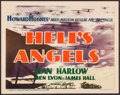"""Movie Posters:War, Hell's Angels (United Artists, R-1937). Title Lobby Card (11"""" X14""""). War.. ..."""