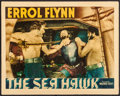 """Movie Posters:Swashbuckler, The Sea Hawk (Warner Brothers, 1940). Linen Finish Lobby Card (11"""" X 14""""). Swashbuckler.. ..."""