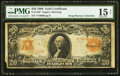 Large Size:Gold Certificates, Fr. 1183* $20 1906 Gold Certificate PMG Choice Fine 15 Net.. ...