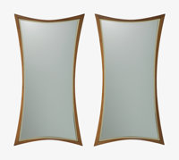 William Hinn (Swedish, 20th Century) Pair of Mirrors, circa 1955, The Swedish Furniture Guild for Urban