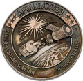 Explorers:Space Exploration, Apollo-Soyuz Test Project Flown Silver Robbins Medallion, Serial Number 83F, Directly from the Family Collection of Astronaut ...