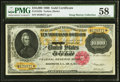 Large Size:Gold Certificates, Fr. 1225h $10,000 1900 Gold Certificate PMG Choice About Unc 58.....