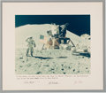 Explorers:Space Exploration, Apollo 15 Large Lunar Surface Color Photo, Crew-Signed on thePresentation Mat to Houston Oilers Owner Bud Adams. ...