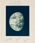 Explorers:Space Exploration, Apollo 10 Large Color Photo, Crew-Signed on the Presentation Mat to Houston Oilers Owner Bud Adams. ...