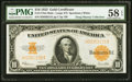 Large Size:Gold Certificates, Fr. 1173m $10 1922 Mule Gold Certificate PMG Choice About Unc 58 EPQ.. ...