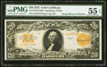 Large Size:Gold Certificates, Fr. 1187m $20 1922 Mule Gold Certificate PMG About Uncirculated 55EPQ.. ...
