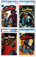 Golden Age (1938-1955):Western, Lone Ranger CGC-Graded Group of 4 (Dell, 1956).... (Total: 4 ComicBooks)