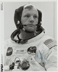 Autographs:Celebrities, Neil Armstrong Signed Launch Day Original NASA Photo....