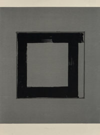 Brice Marden (b. 1938) 1, 2, 3, 4 (set of four works), 1983 Screenprint in black and gray on Japanes