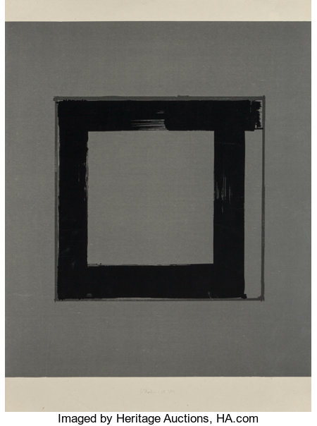 Brice Marden (b. 1938)1, 2, 3, 4 (set of four works), 1983Screenprint in black and gray on Japanese handmade Mino Ko... (Total: 4 Items)
