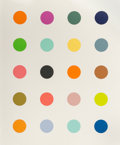 Fine Art - Work on Paper:Print, Damien Hirst (b. 1965). 3-Methylthymidine, 2014. Screenprint in colors with diamond dust on Somerset paper. 32-7/8 x 27 ...