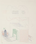 Fine Art - Work on Paper:Print, David Hockney (b. 1937). The Buzzing of the Blue Guitar,from The Blue Guitar, 1976-77. Etching with aquatint incol...