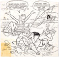 Original Comic Art:Covers, Dan DeCarlo Laugh Comics #379 Cover (Partial) Original Art(Archie Comics, 1983)....