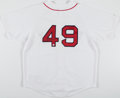 Autographs:Jerseys, Tim Wakefield Signed Boston Red Sox Jersey. ...