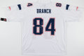 Football Collectibles:Uniforms, Deion Branch Signed New England Patriots Jersey....