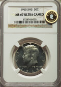 SMS Kennedy Half Dollars, 1965 50C SMS MS67 Ultra Cameo NGC....