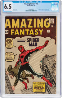 Amazing Fantasy #15 (Marvel, 1962) CGC FN+ 6.5 Cream to off-white pages