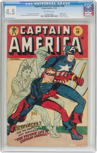 Captain America Comics #59 (Timely, 1946) CGC VG+ 4.5 Off-white pages