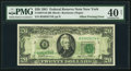 Error Notes:Offsets, Full Back to Face Offset Error Fr. 2073-B $20 1981 Federal Reserve Note. PMG Extremely Fine 40 Net.. ...