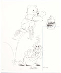 Animation Art:Production Drawing, Mike Royer - Winnie the Pooh Illustration Original Art(undated)....